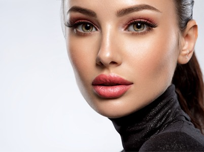 Woman with dermal fillers